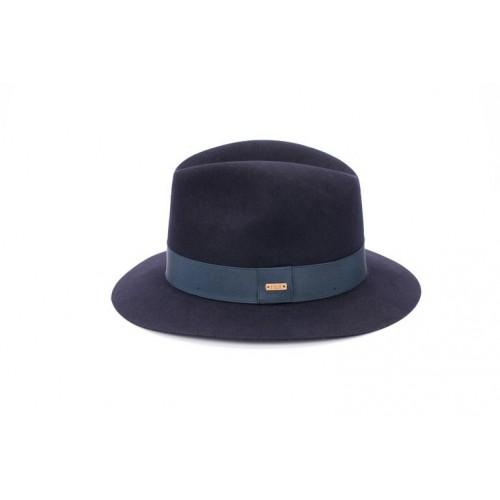 Sombrero Artis Fedora Hombre Azul Cinta Azul sombrerería Fernández y Roche