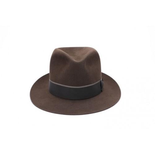 Sombrero Brian Fedora de Fieltro Hombre Marrón Cinta Marrón sombrerería Fernández y Roche