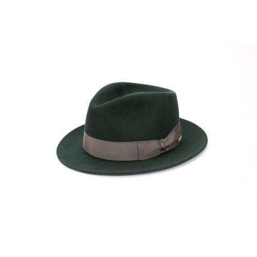 Sombrero Denis Fedora de Fieltro Hombre Verde Cinta Bronce sombrerería Fernández y Roche