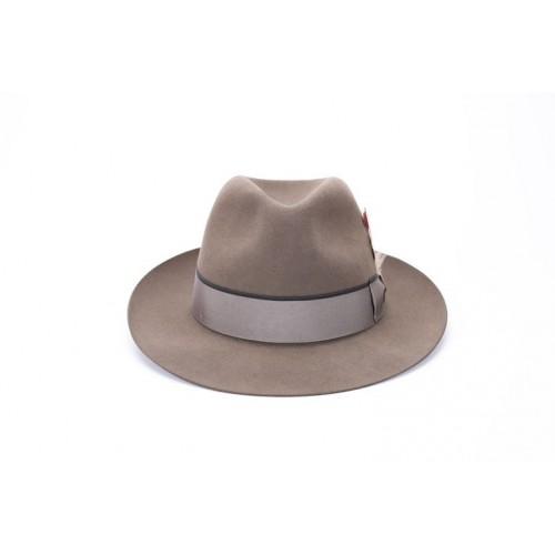 Sombrero Gael Fedora de Fieltro Color Nogal Cinta Bronce sombrerería Fernández y Roche