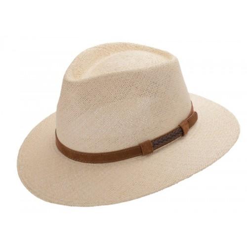 Gonzalo sombrero hombre panamá para el verano color beige natural. Fernández y Roche