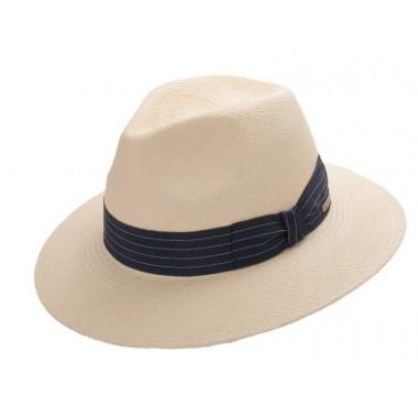 Andrik sombrero de hombre panamá color natural y cinta marina. Fernández y ROCHE