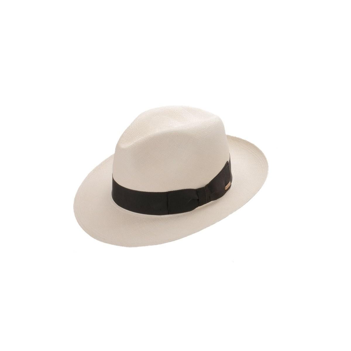 Belmont sombrero de hombre panamá color crema y cinta negro. Fernández y ROCHE