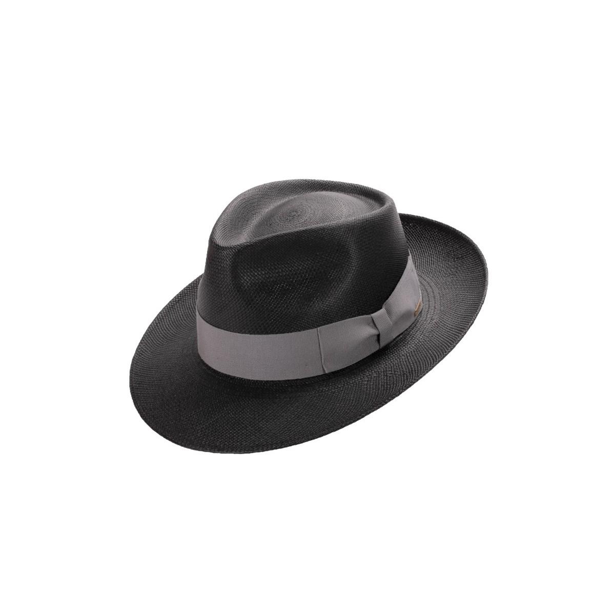 Daren sombrero de hombre panamá color negro con cinta gris. Fernández y ROCHE