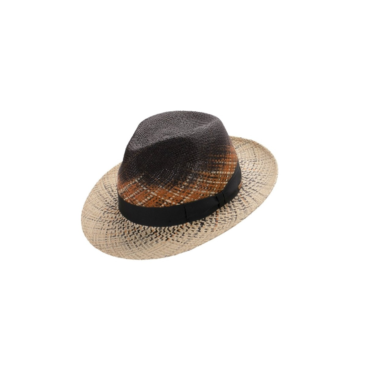 Edan sombrero de hombre para el verano Fedora en color crean degradado con cinta negra. Fernández y ROCHE