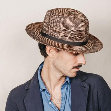 Ekon sombrero de hombre para el verano Fedora en color crean. fabricado en paja toquilla natural. Fernández y ROCHE