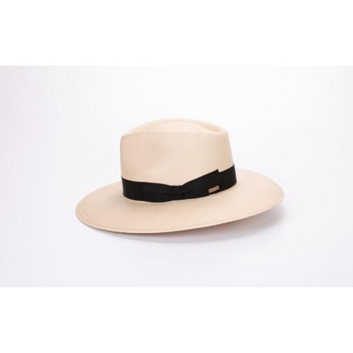 Galo sombrero de hombre panamá estilo traveller color nude para el verano. Fernández y Roche
