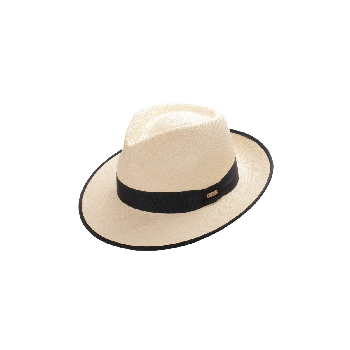 Condor Panama hat natural color and grosgrain ribbon. Fernández y Roche