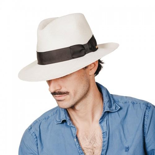 Belmont sombrero de hombre para el verano panamá. Hecho a mano en España. Fernández y ROCHE