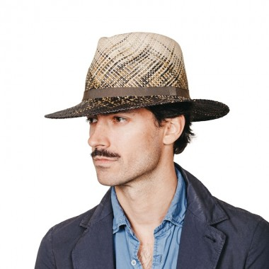 Bravo panama hat in various colors gradient effect and ribbon. Fernández y Roche