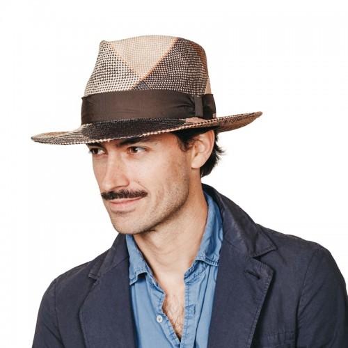 Bruno sombrero de hombre panamá para el verano trenzado en varios colores efecto geométrico. Fernández y ROCHE