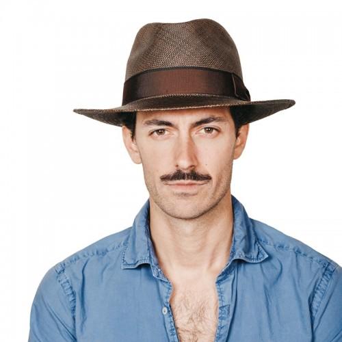 Florián sombrero de hombre panamá para el verano color verde seco y cinta marrón y lazada clásica. Fernández y ROCHE