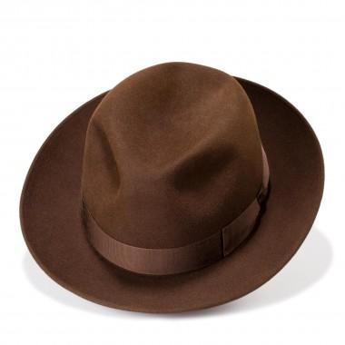 Nic brown felt fedora style hat. Handmande in Spain. Fernandez y Roche