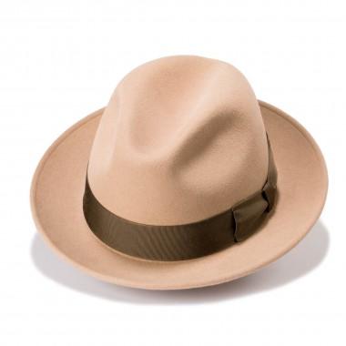 Efren sombrero fieltro de pelo estilo Trilby en color Nutria. Hecho en España. Fernández y Roche