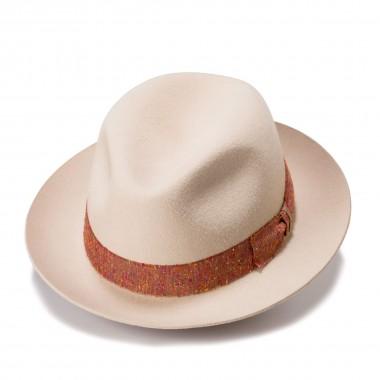 Laval sombrero fieltro de pelo estilo Fedora color Nutria. Hecho en España. Fernández y Roche