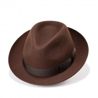 Can brown Trilby style wool felt hat. Fernandez y Roche