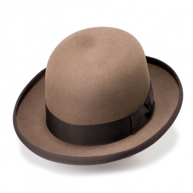 Noah Walnut Round Crown Hair Felt Hat. Fernandez y Roche