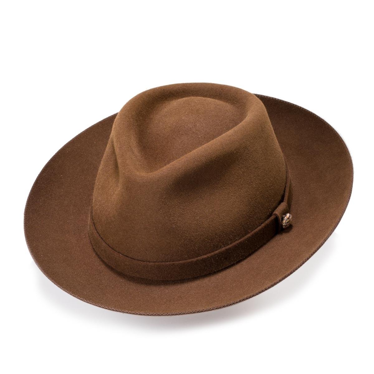 Euston Maltese Brown Fedora Fedora Hat. Handmade Fernandez y Roche