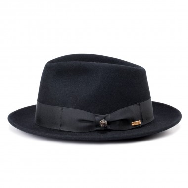 London Black Fedora Style...