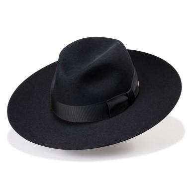 Raine black hat Felt hair Crown style. Fernández y Roche