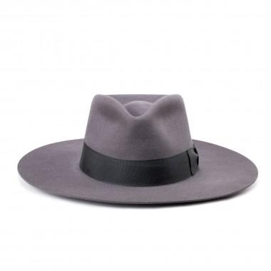 Worden Steel Gray Tear crown Hair Felt Hat. Fernández y Roche