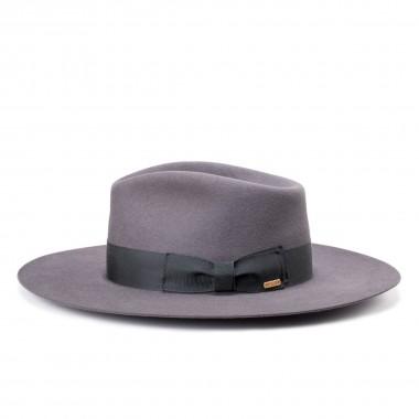 Worden sombrero fieltro de pelo estilo Copa Lágrima color Gris Acero con mucho estilo. Fernández y Roche