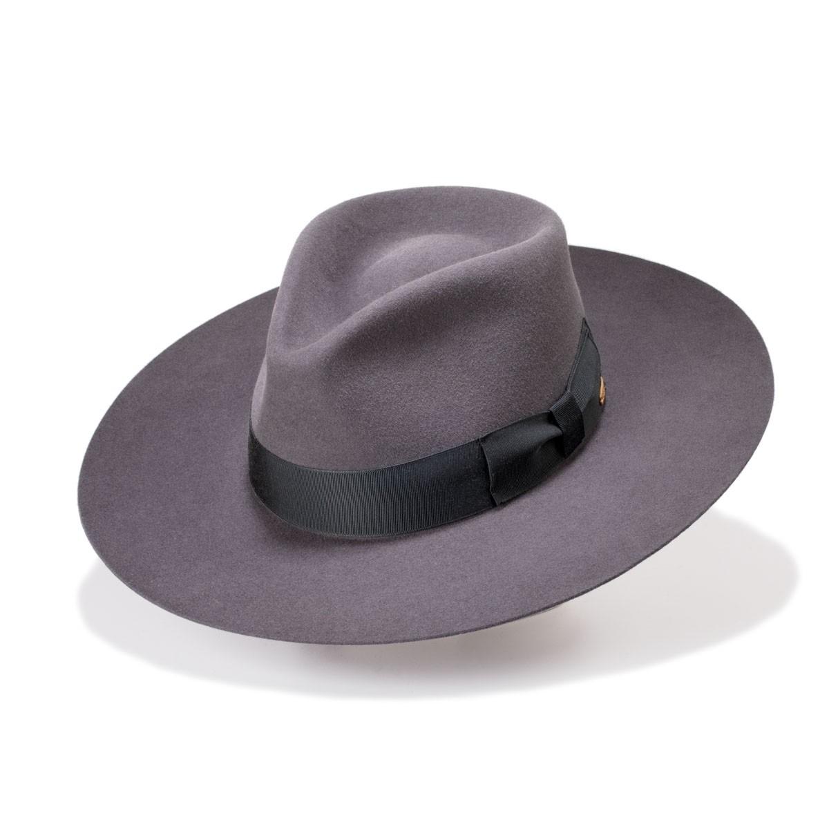 Worden Steel Gray Tear crown Hair Felt Hat. Handmade in Spain. Fernández y Roche