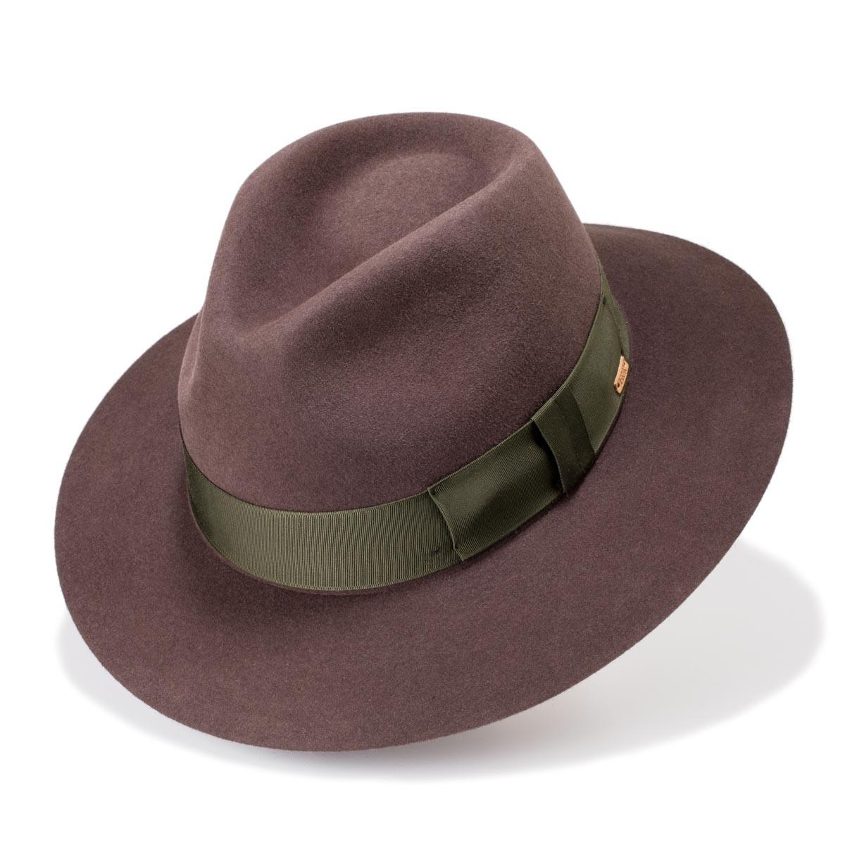 Lannion sombrero fieltro estilo gota de agua color roble. Hecho a mano. Fernández y Roche