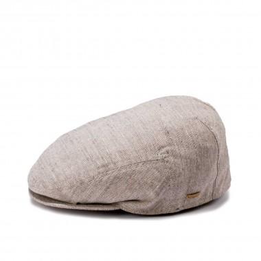 Lagos gorra de corte plano color beige. Fernández y Roche
