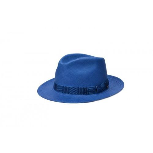 sombrero-hombre-panama-nesle-paja-toquilla-azul zafiro-Fernandez-y-Roche