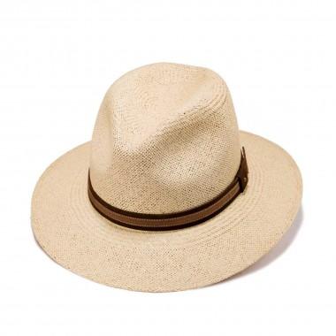 Bardo sombrero panamá color natural y correa. Fernández y Roche