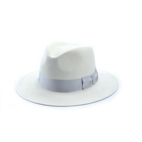 Sombrero hombre Panamá Sabila  hecho a mano en 100% Paja Toqilla color blanco -Fernández y Roche-
