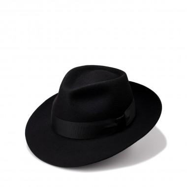 Aneka black merino wool hat...